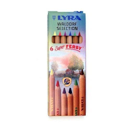 LYRA Super Ferby Waldorf  6 színű vastag ceruzakészlet          wawa