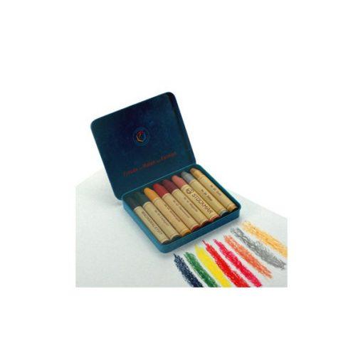 Méhviaszceruza, 8 színű, különleges színek - Stockmar