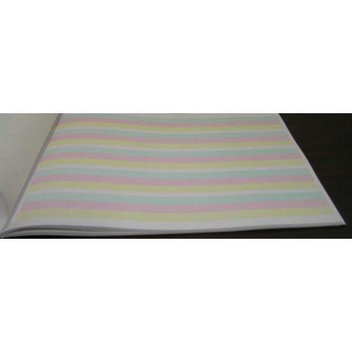 Füzet, epocha, 3 színű sorral, elválasztólappal, munkafüzet