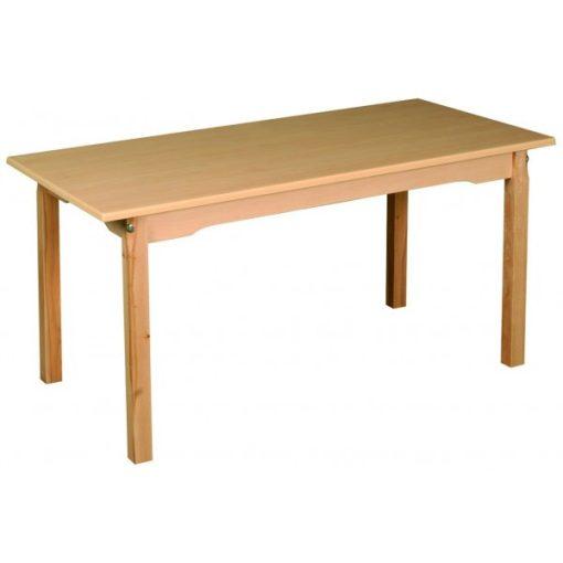 Óvodai tégla asztal, bükk 110 X 60 cm fa váz laminált asztallap