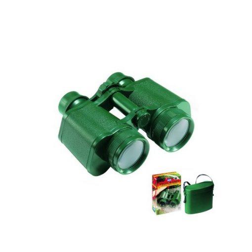 Zöld távcső tokkal, háromszoros nagyítással, Op1010