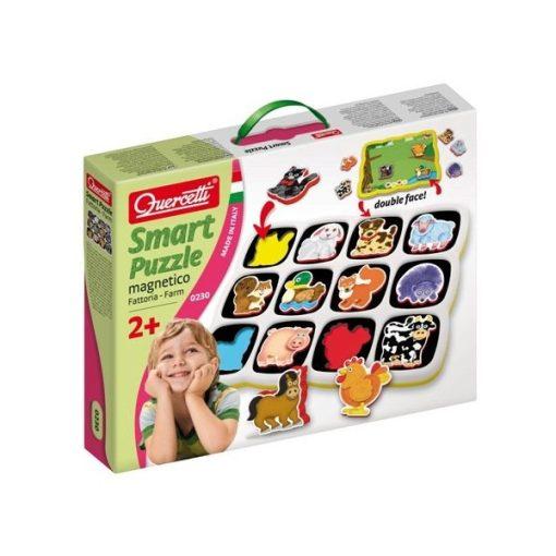 Okos puzzle - háziállatok, mágneses, Quercetti, QR0230
