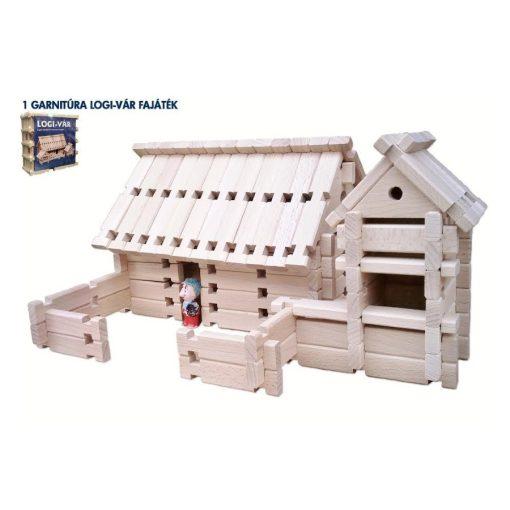 Logi-Vár fa építőjáték I. 86 db-os készlet