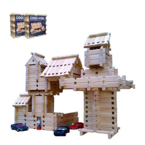 Logi-Vár fa építőjáték II. 172 db-os készlet