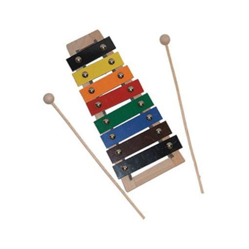 Xilofon, színes, 1 oktávos, X-5