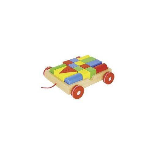 Építőkockák, húzható kocsiban - GOKI GK58558