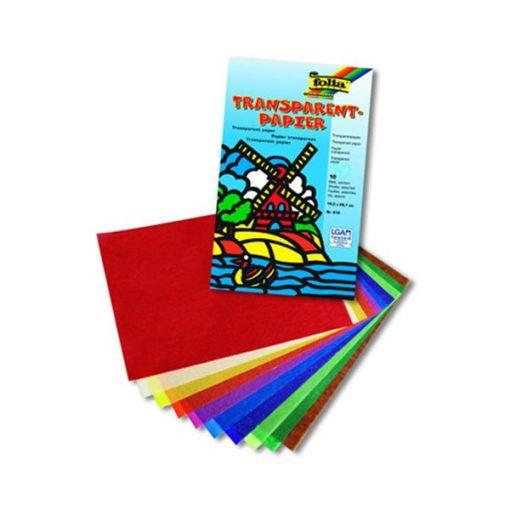 Pergaminpapír szett 10 szín mappában 18,5*29,7 cm