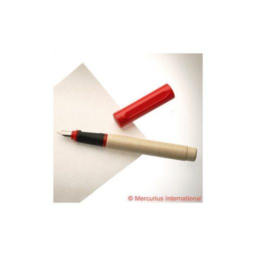 Töltőtoll fából 1,9mm PIROS Kaligrafikus       wawa