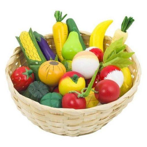Zöldség-gyümölcs kosárban, 21 db-os - GOKI GK51660
