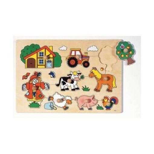 Fogós puzzle, a farmon, GK57995 GOKI