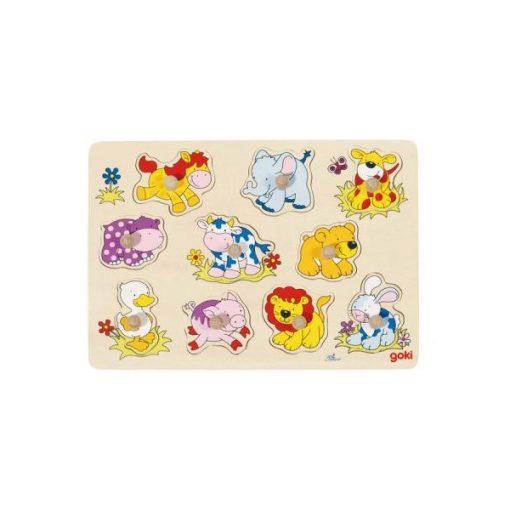 Fogós puzzle, kis állatok - GOKI GK57838