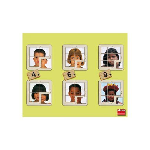 A világ gyerekei - 6 fotó-puzzle AKR 55104 KIFUTÓ Termék