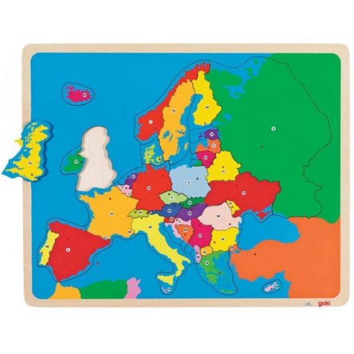 Európa puzzle, 35 db-os - GOKI GK57509