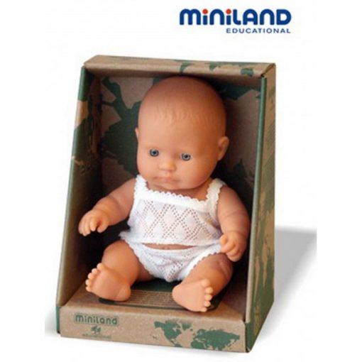 Európai fiú fehérneműben, 21 cm-es, dobozos, MINILAND, ML31121
