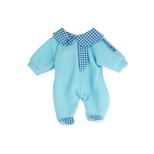 Babaruha - kék rugdalózó, 32 cm-es babához, MINILAND, ML31628