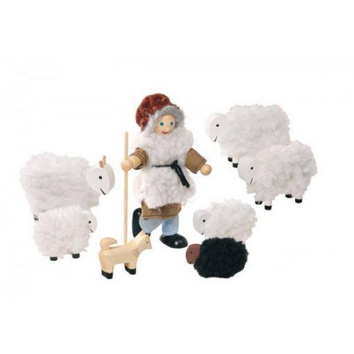 Babacsalád - pásztor a nyájával, 8 db-os, GOKI GKSO201