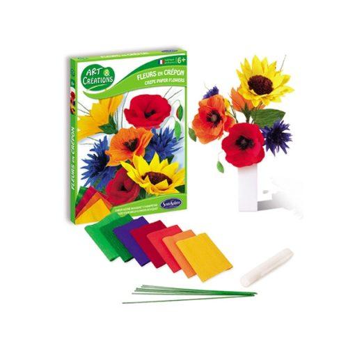 Krepp virág készítő szett, vadvirágok - Sentosphere SA2002