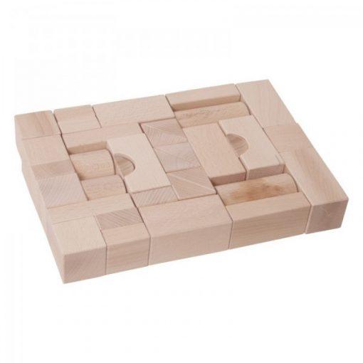 Építőkocka natúr 4 cm-es
