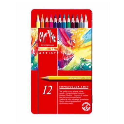 Supracolor 12 színű ceruza fém dob. Caran d'Ache