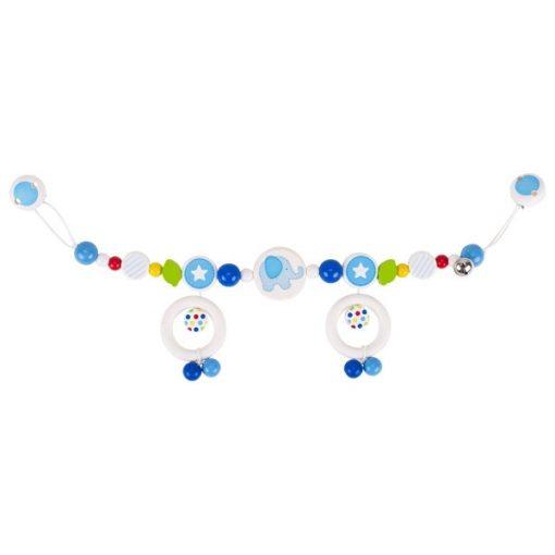 Babakocsi csörgő kék, elefántos, GOKI GK764470