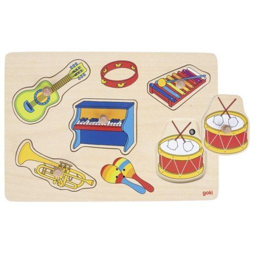 Fogós puzzle hangszer hangokkal, GOKI GK 57520
