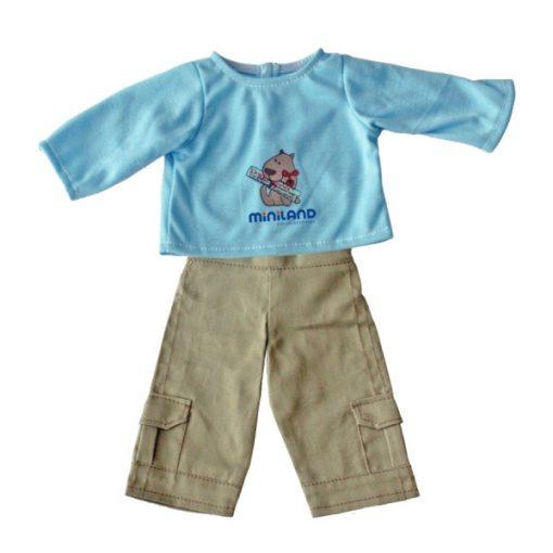 Babaruha - nadrág és póló 32 cm-es babához, MINILAND, ML31625
