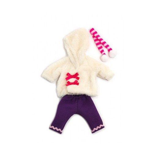 Babaruha - nadrág, pulcsi, sál, 32 cm-es babához, MINILAND, ML31638