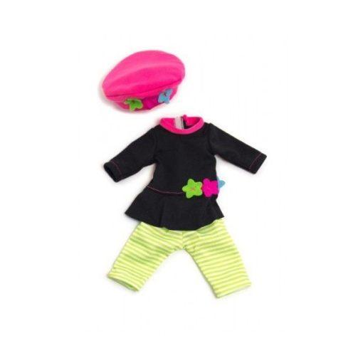 Babaruha - ruha, nadrág, sapka, 32 cm-es babához, MINILAND, ML31646