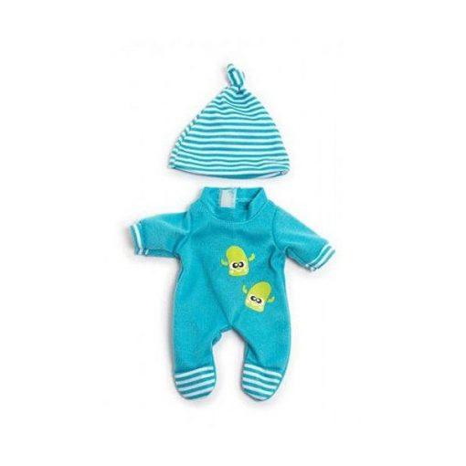 Babaruha - rugdalózó sapkával, 21 cm-es babához, MINILAND, ML31671