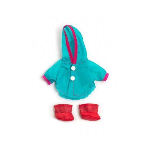 Babaruha - esőkabát, cipővel, 21 cm-es babához, MINILAND, ML31676