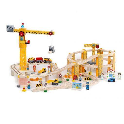 Vonat készlet 4294 - Építkezés 2daruval 82 db-os