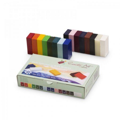 Encaustic viaszkréta készlet, kezdő színek, 16 db-os