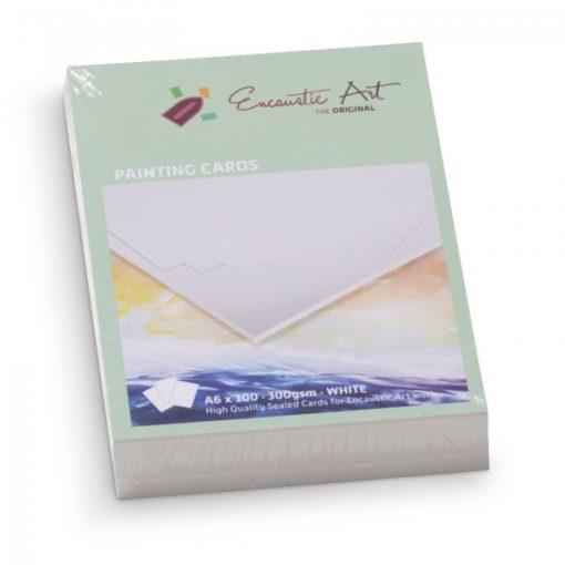 Encaustic kartonpapír, A/6, fehér, 250 gr, 100 db