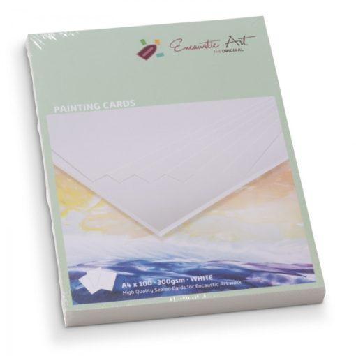 Encaustic kartonpapír, A/4, fehér, 300 gr, 100 db