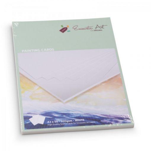 Encaustic kartonpapír, A/3, fehér, 250 gr, 50 db