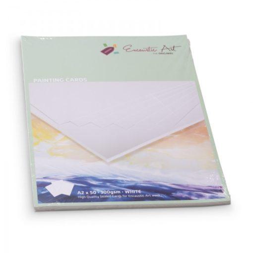 Encaustic kartonpapír, A/2, fehér, 300gr, 50 db