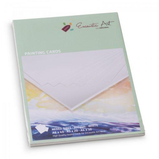 Encaustic kartonpapír mix vastag, A/6-40db, A/5-20db, A/4-10db - Fehér