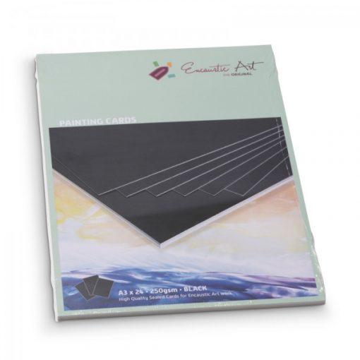 Encaustic kartonpapír, A/3, fekete, 250 gr, 24 db