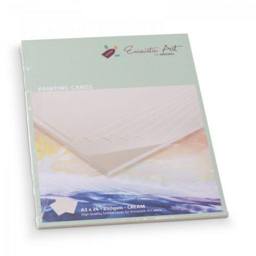 Encaustic kartonpapír, A/3, krém, 250 gr, 24 db