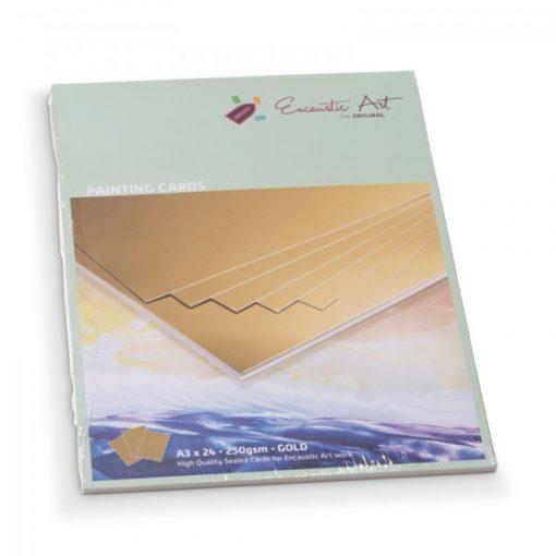 Encaustic kartonpapír, A/3, arany, 250 gr, 24 db