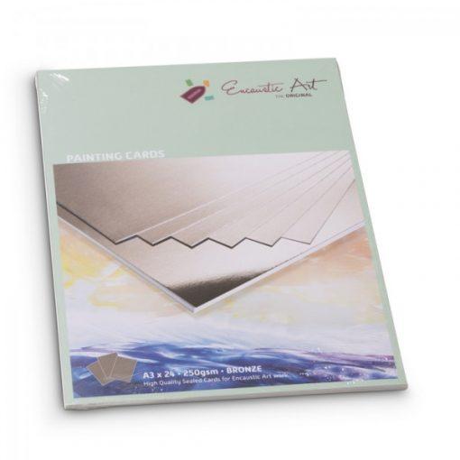 Encaustic kartonpapír, A/3, bronz, 250 gr, 24 db