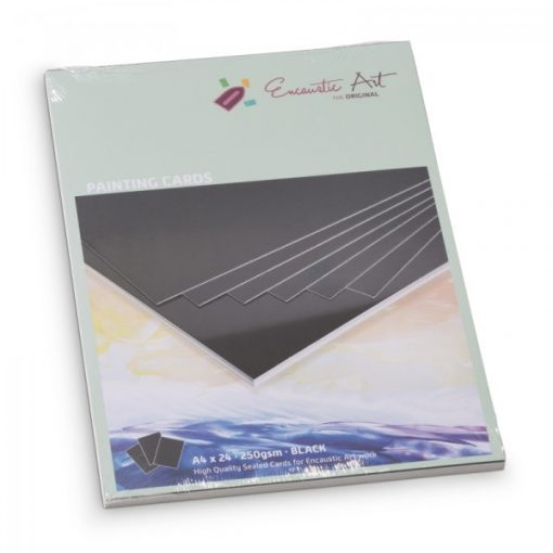 Encaustic kartonpapír, A/4, fekete, 250 gr, 24 db