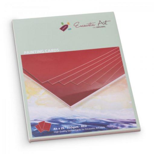 Encaustic kartonpapír, A/4, piros, 250 gr, 24 db