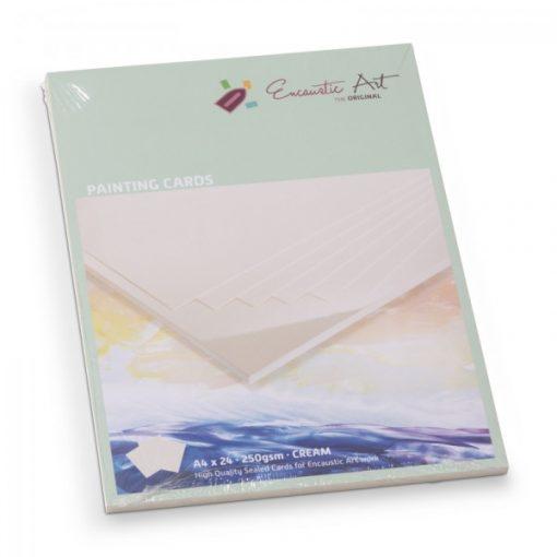 Encaustic kartonpapír, A/4, krém, 250 gr, 24 db