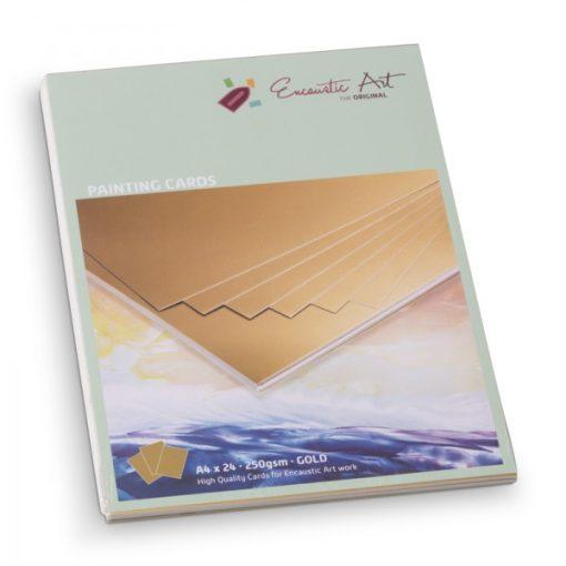 Encaustic kartonpapír, A/4, arany, 250 gr, 24 db