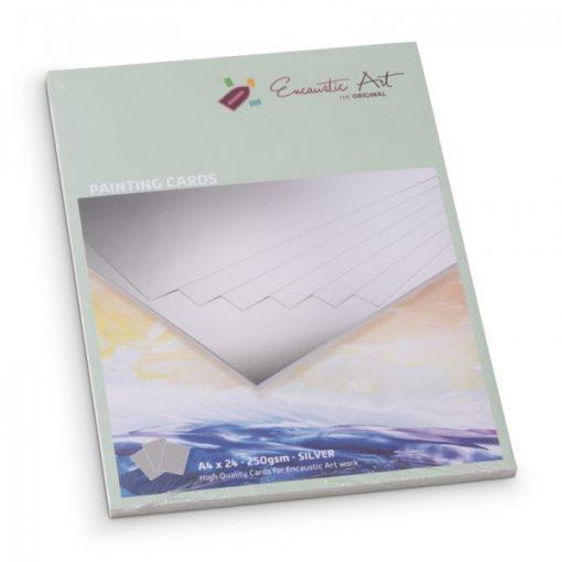 Encaustic kartonpapír, A/4, ezüst, 250 gr, 24 db