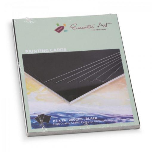 Encaustic kartonpapír, A/5, fekete, 250 gr, 24 db