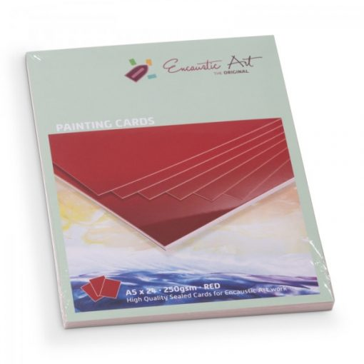 Encaustic kartonpapír, A/5, piros, 250 gr, 24 db