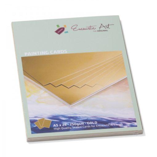 Encaustic kartonpapír, A/5, arany, 250 gr, 24 db