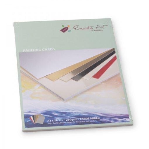 Encaustic kartonpapír, A/3, 6 szín, 250 gr, 24 db